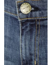 Current/Elliott Blue The Skinny Boy Cropped Mid-Rise Jeans