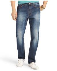 Izod - Blue Regular-Fit Five-Pocket Jeans for Men - Lyst