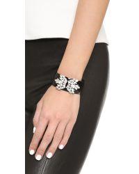 Sam Edelman Black Crystal Cuff Bracelet