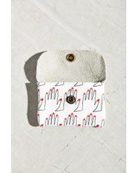 Falconwright White Card Holder Leather Pouch