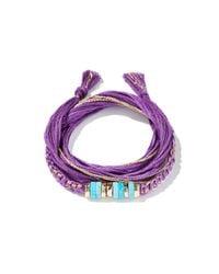 Aurelie Bidermann - Purple Takayamas Wrap Bracelet - Lyst