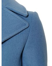 Golden Goose Deluxe Brand Blue Wool Cloth Peacoat With Safety Pin