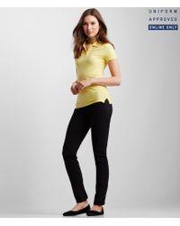 Aéropostale   Yellow Solid Uniform Piqué Polo for Men   Lyst