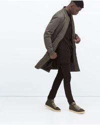 Zara | Natural Long Bomber Jacket for Men | Lyst