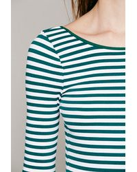 Intimately Blue Striped Low Back Top