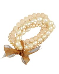 Macy's - Natural Pearl Bracelet Set White and Pink Cultured Freshwater Pearl and Rose Quartz 79-15 Ct Tw Set Of Five Bracelets - Lyst