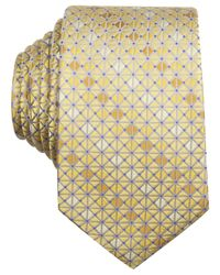Perry Ellis | Yellow Griffin Geo Slim Tie for Men | Lyst