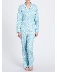 Cath Kidston - Blue Button Spot Pyjama Gift Set - Lyst
