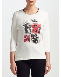 Gerry Weber Multicolor Placement Print T-shirt