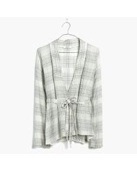 Madewell - Natural Tie-waist Wrap Shirt - Lyst