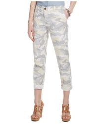 Tommy Hilfiger - Gray Slim-Fit Rolled Camo-Print Chino Pants - Lyst