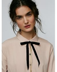Free People Metallic Bow Tie Bolo Necklace