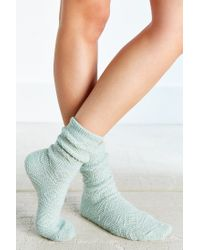 Urban Outfitters - Green Diamond + Chevron Boot Sock - Lyst