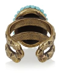 Isabel Marant Blue Nitto Gold-Tone Resin Ring