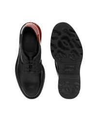 Alexander McQueen - Black Harley Plain Derby Lace Up for Men - Lyst