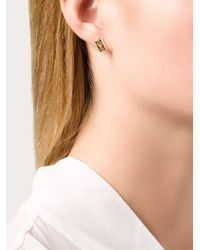 Alison Lou | Metallic Bar Of Gold Stud Earrings | Lyst