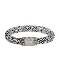 John Hardy | Metallic Naga Diamond Clasp Bracelet | Lyst