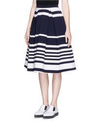 Nicholas Multicolor 'positano' Stripe Flare Skirt