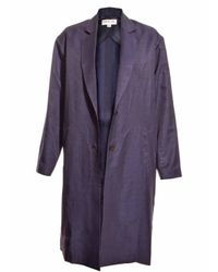 Eudon Lyst Coat Summer In Choi Camellia Duster Blue Navy vWwp64vxqf