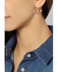 Delfina Delettrez - Pink 9-Karat Multi-Stone Earring - Lyst