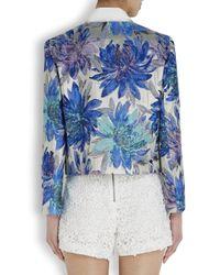 Alice + Olivia Blue Kidman Floral Jacquard Jacket