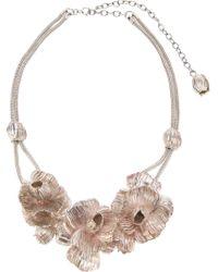 Lara Bohinc White Roses In Bloom Necklace
