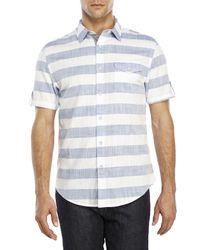 DKNY | Blue Wide Stripe Woven Shirt for Men | Lyst