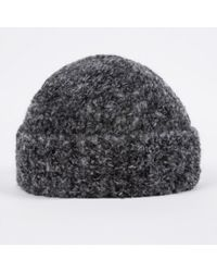 481fe949dfa Lyst Paul Smith Cashmere Cable Knit Hat In Gray For Men