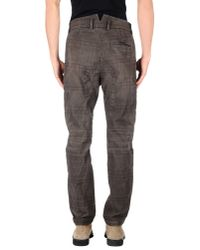 Takeshy Kurosawa Brown Denim Trousers for men