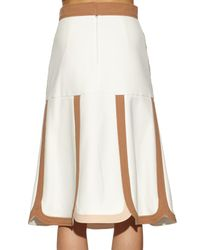 Peter Pilotto - Brown Counter Crepe High-waisted Skirt - Lyst