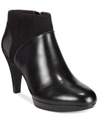 Clarks | Black Collection Women's Narine Nellie Platform Booties | Lyst