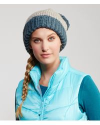Aéropostale | Blue Colorblocked Pom Hat | Lyst