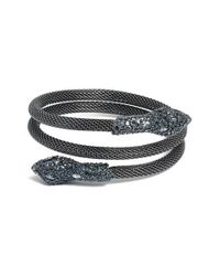 Alexis Bittar | Gray Serpent Wrap Bangle - Gunmetal | Lyst