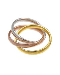 Lord & Taylor - Multicolor 14k Tri-gold Rolling Ring - Lyst