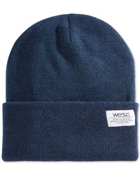 Wesc | Blue Cuffed Beanie for Men | Lyst