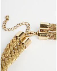 ASOS - Metallic Knot Statement Necklace - Lyst