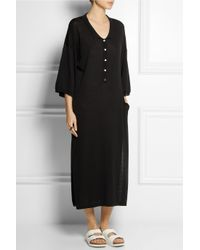 Totême  Black Belize Knitted Jersey Midi Dress