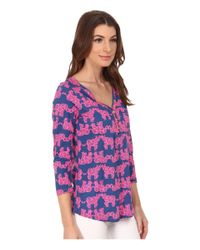Lilly Pulitzer - Blue Palmetto Top - Lyst