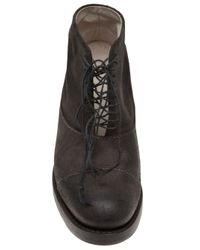 Cherevichkiotvichki - Black Goodyear Wooden Heel Boot - Lyst