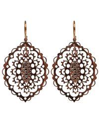 Laurent Gandini Metallic Rose Gold and Diamond Giudecca Earrings