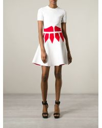 Alexander McQueen - White Contrast Corset Dress - Lyst
