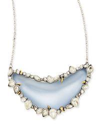 Alexis Bittar | Jardin De Mystere Crystalframed Lucite Crescent Necklace Blue | Lyst