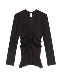 Isabel Marant - Black Heather Ruched Blouse - Lyst