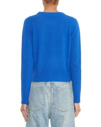 Marc By Marc Jacobs Blue Merino-Wool Sweater