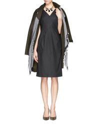 Armani - Black Cross Front Wool Dress - Lyst