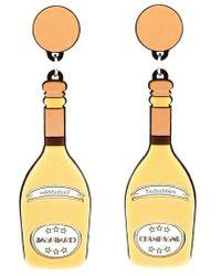 Yazbukey - Yellow Champagne Earrings - Lyst