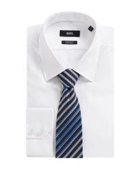 BOSS Blue 'tie 7.5 Cm' | Regular, Silk Striped Tie for men