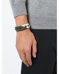 Valentino | Green 'rockstud' Bracelet for Men | Lyst