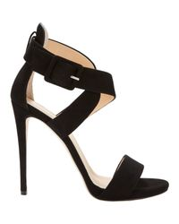 Barneys New York - Black Women's Crisscross-strap Sandals - Lyst