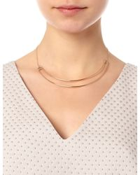 Maria Black | Metallic Rose Gold Love Bite Necklace | Lyst